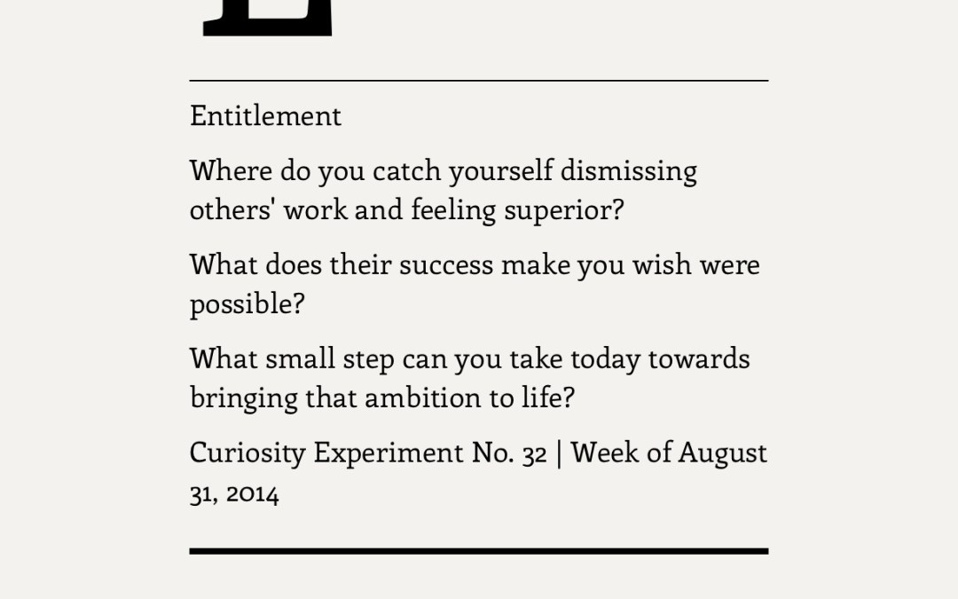 Entitlement, Generosity, and the Space Between