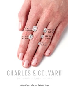 Radiant cut moissanites on the hand loose pear shape emerald also what is moissanite diamond color rh laurenbjewelry