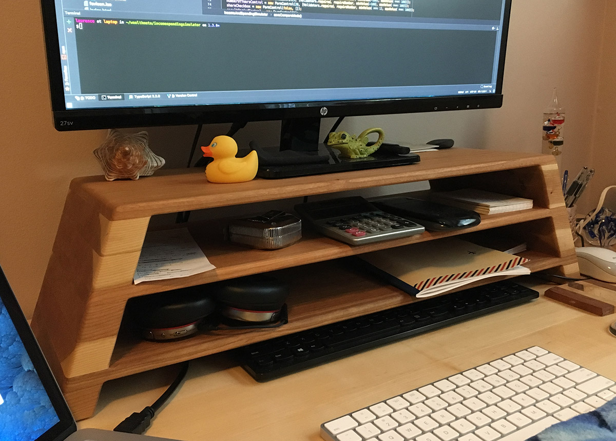 An Awesome Monitor Riser For My Desk Laurence Gellert S Blog