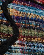 Panneau d'art textile contemporain-Le Golfe…Laurence Waldner