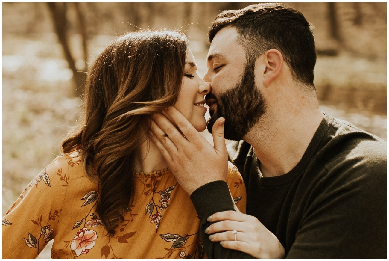 598d4c1d287 Charlie + Tiffany    Engagements in the woods – Lauren F.otography