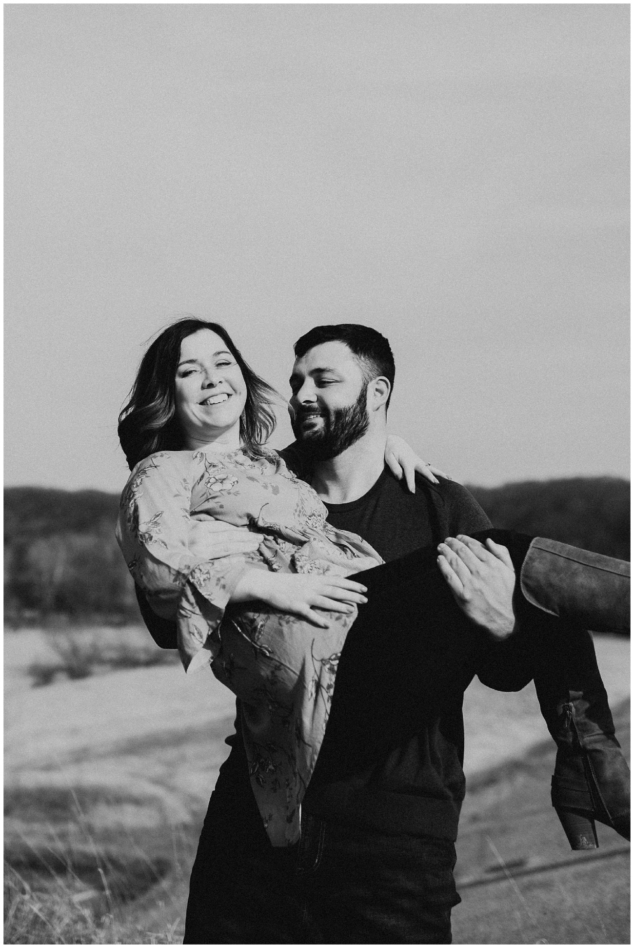 Charlie + Tiffany // Engagements in the woods - Lauren F otography