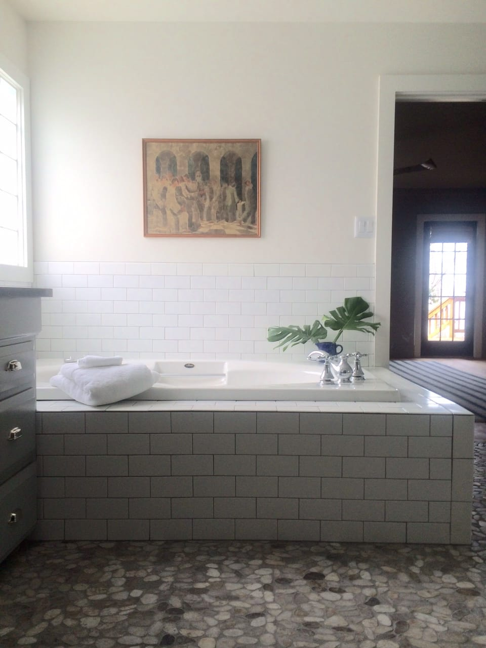 Lake House Master Bathroom Before  After