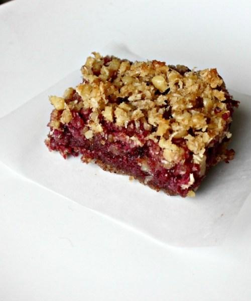 Paleo Raspberry Almond Bars