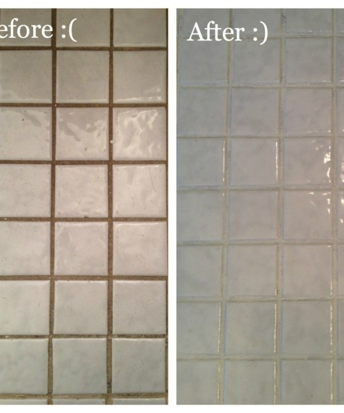 Updating Bathroom Tile with Grout Refresh