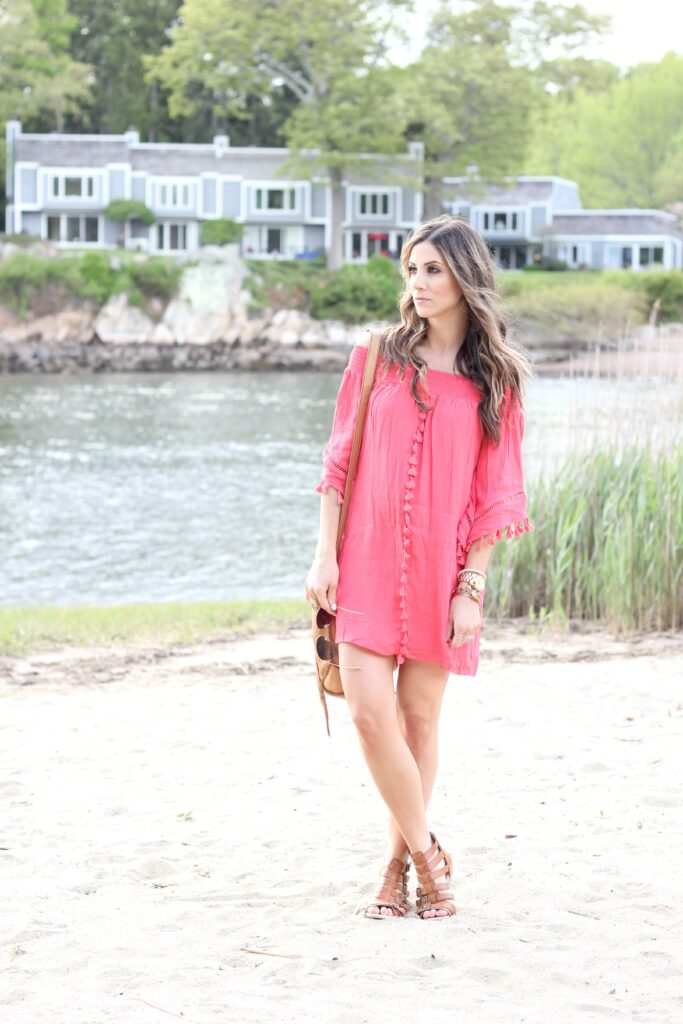 Coral Fringe Dress, Lauren McBride