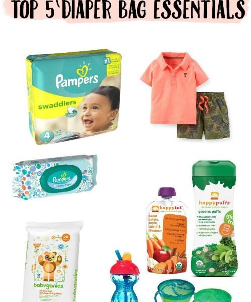 Top 5 Diaper Bag Essentials (and a giveaway!)
