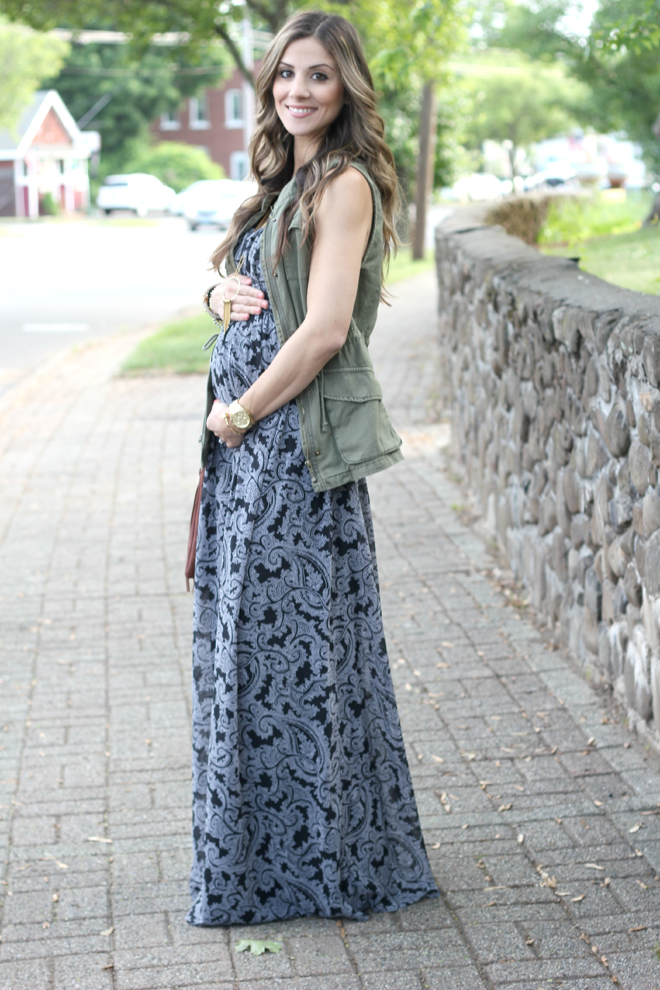 Paisley maternity maxi dress lauren mcbride maternity fashion jessica simpson strapless empire waist maternity maxi destination maternity maternity fashion ombrellifo Images