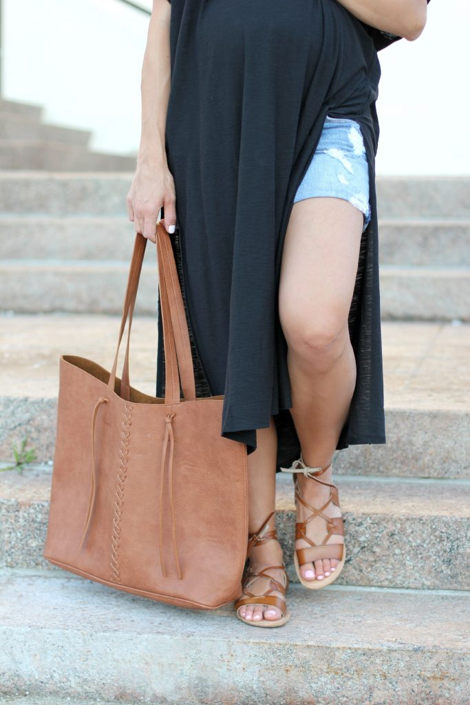 Maternity Style High Side Slit Maxi Dress Lauren Mcbride