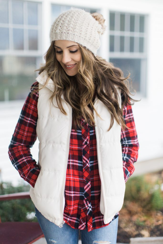 Style Plaid Shirt And Puffer Vest Lauren Mcbride