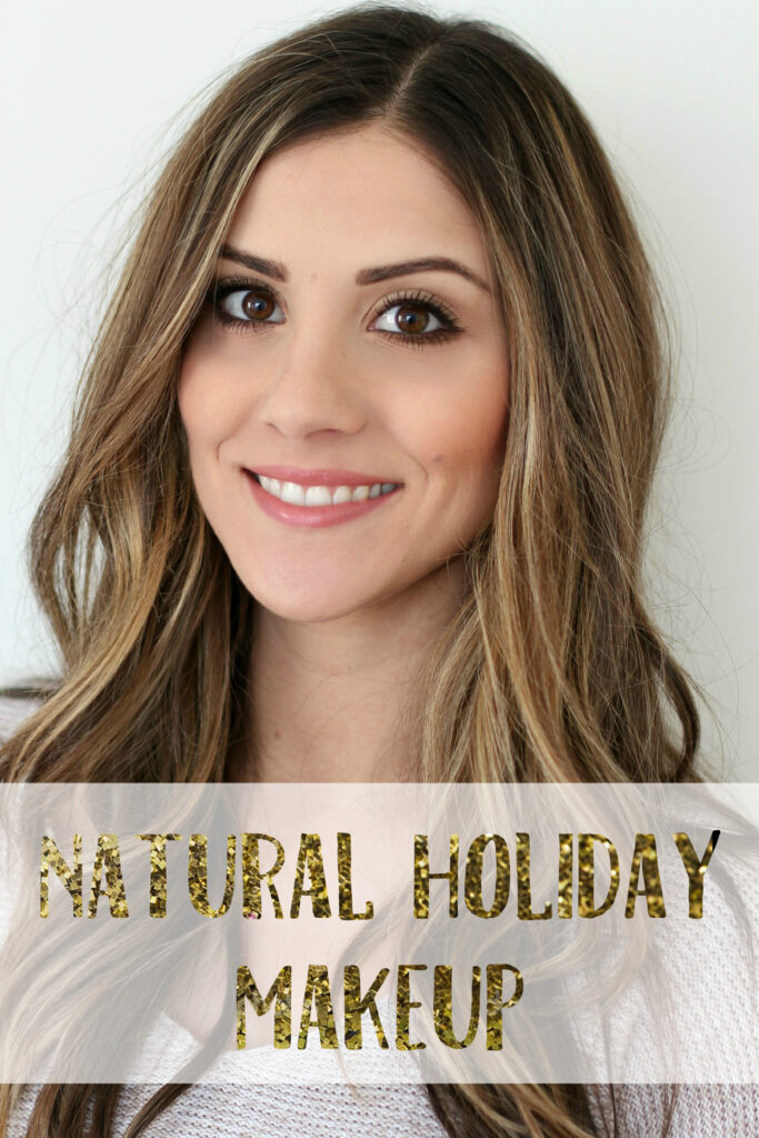 New Year's Eve Natural Holiday Makeup tutorial with Au Naturale Cosmetics. This tutorial is natural on the eyes which pairs great with a bold lip!
