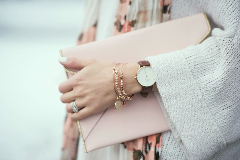 Dressy casual Valentine's Day outfit and how to style Pantone's Color of the Year Rose Quartz, Blush tones