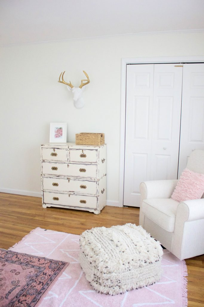Bookmark this! Want to see how we brought this Bohemian Girl's Nursery them to life? Click through!