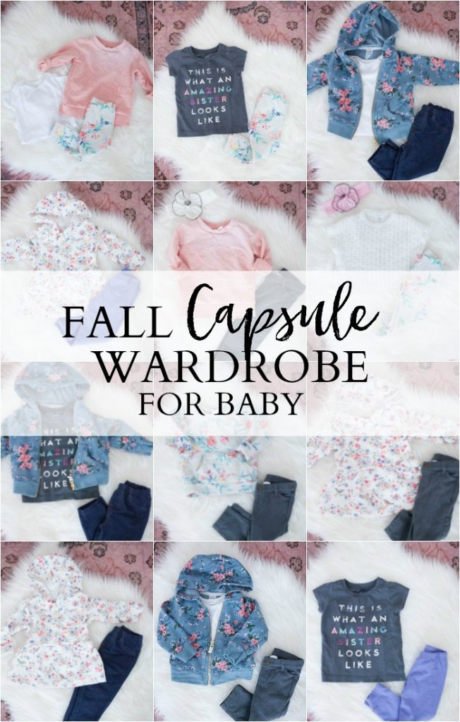 An easy guide on how to create a fall capsule wardrobe for baby that will help save you time and money!