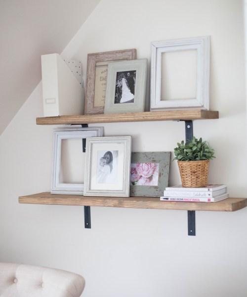 Home // Simple DIY Rustic Shelving