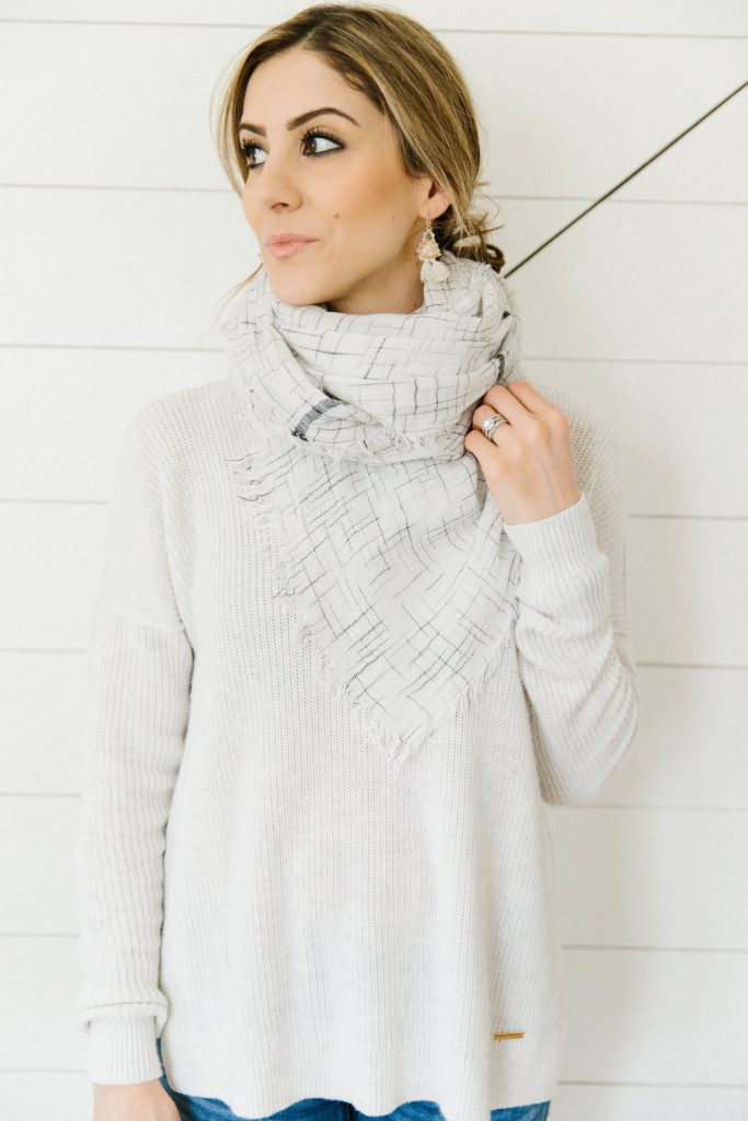 This Cowl Neck Scarf is a great unique way to tie your scarf for the season!