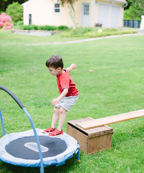 Mom + Baby // Outdoor Toddler Obstacle Course