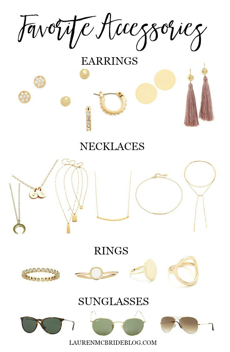 Lauren McBride's favorite delicate gold accessories.