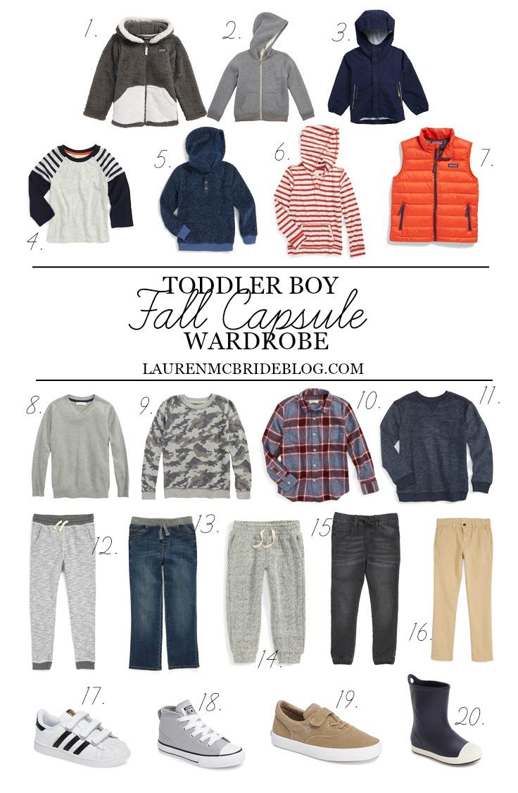 a3c99d80d Toddler Boy Fall Capsule Wardrobe - Lauren McBride