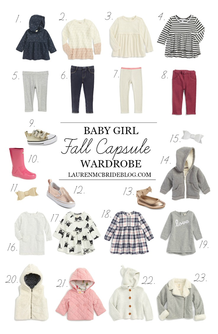 Baby Girl Fall Capsule Wardrobe , Lauren McBride