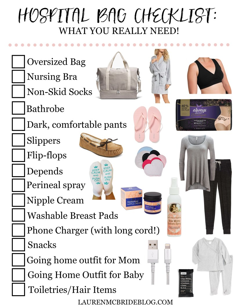 Hospital Bag Checklist What You Really Need Lauren Mcbride
