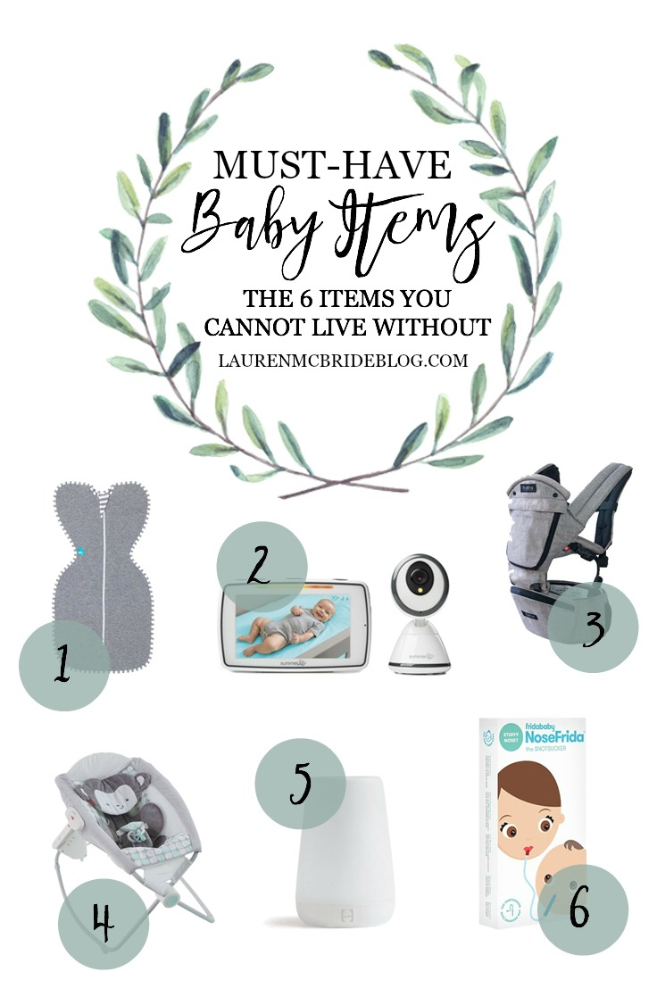 Life and style blogger Lauren McBride shares her Must-Have Baby Items that every new parent should have as a mom of almost 3.