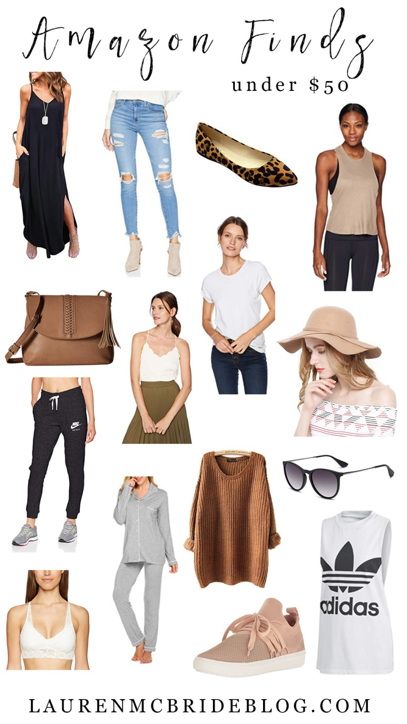 Connecticut life and style blogger Lauren McBride shares her September Amazon Finds Under $50, including pajama sets, fall items, and great basics.