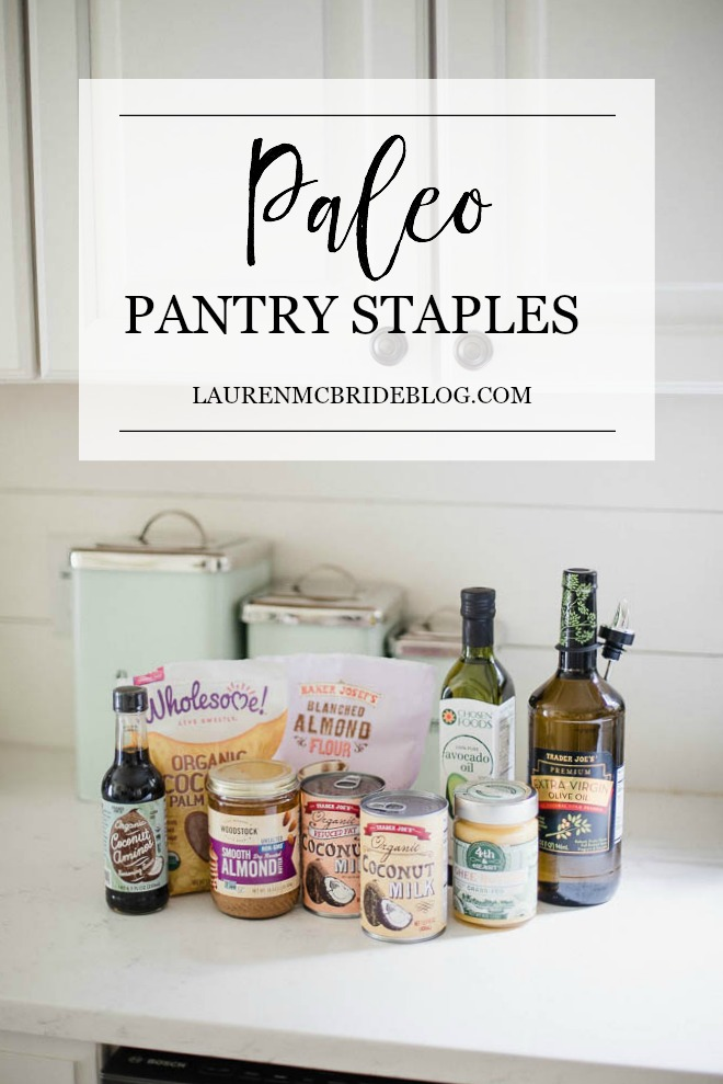 Connecticut life and style blogger Lauren McBride shares her Paleo Pantry Staples and what each item replaces in a standard diet pantry.