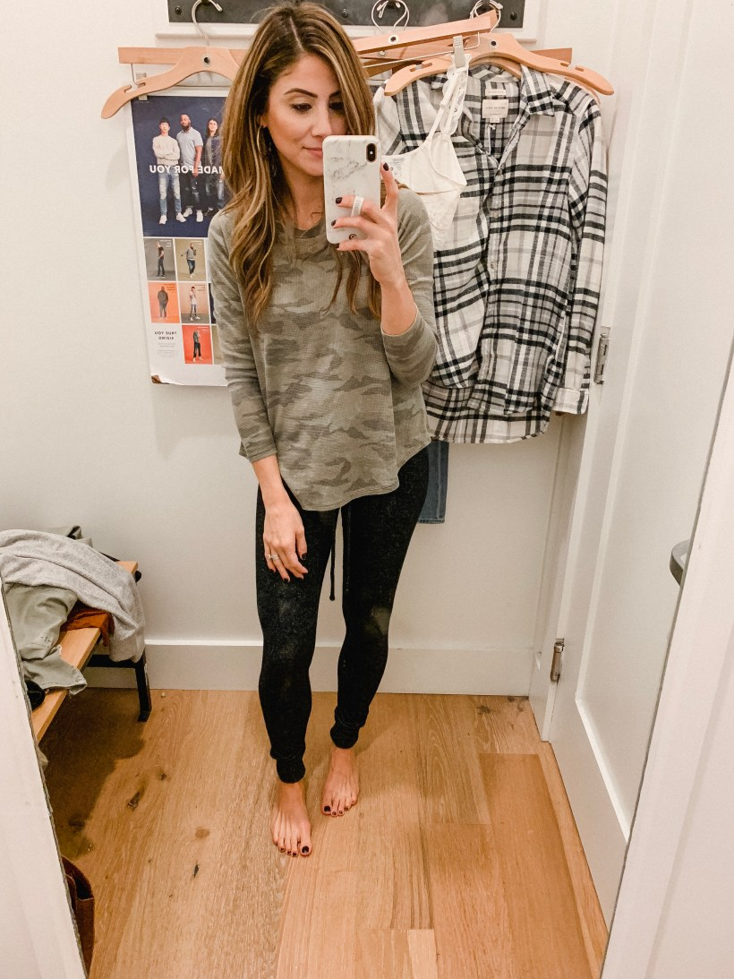 Connecticut life and style blogger Lauren McBride shares an October American Eagle try on featuring sweaters, flannel shirts, and cozy lounge pants.