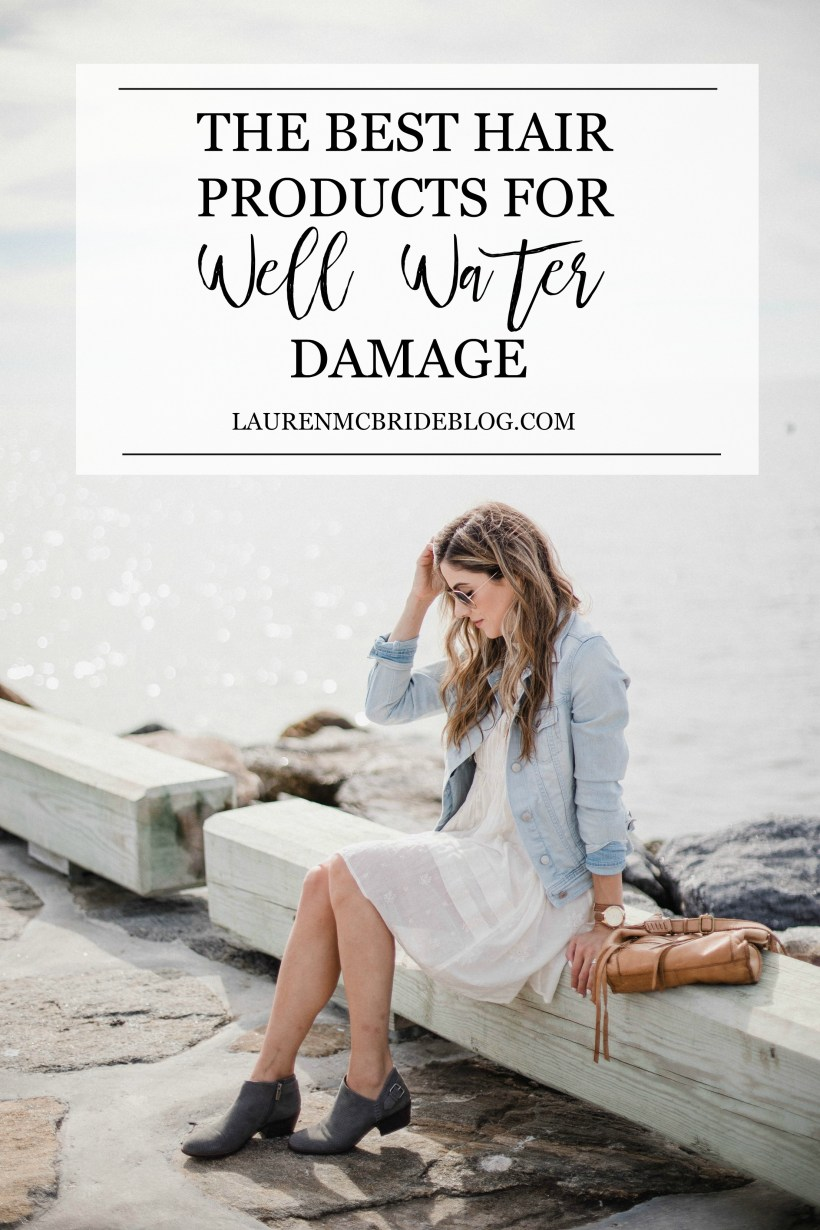 Connecticut life and style blogger Lauren McBride shares the Best Hair Products for Well Water Damage and how to combat the breakage and discoloration well water might cause.