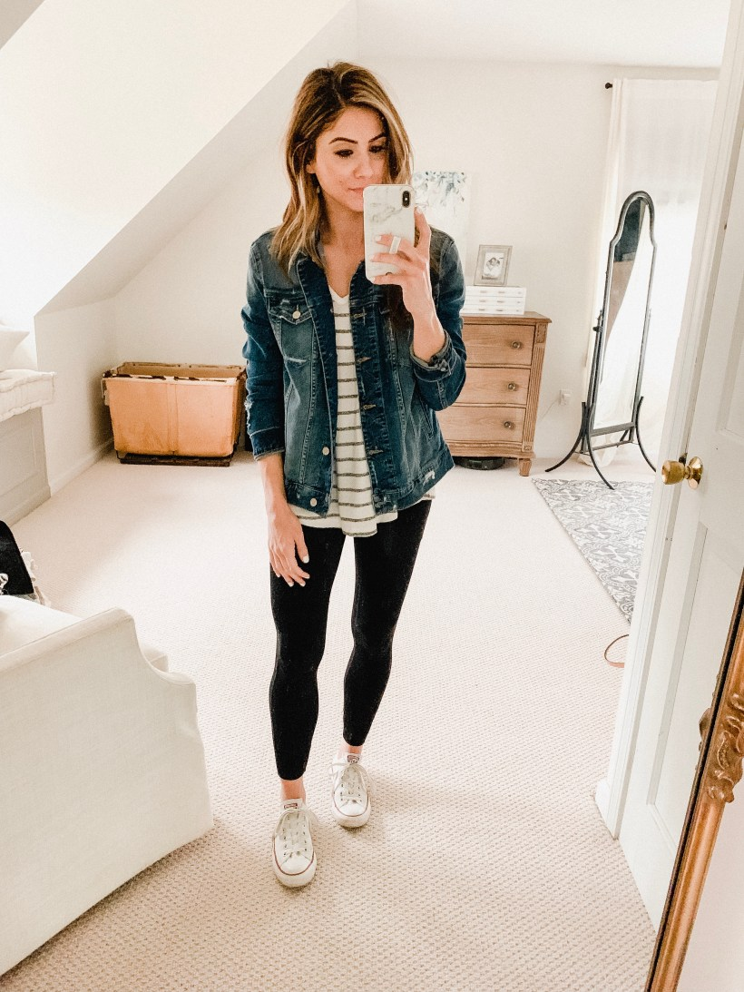 Connecticut life and style blogger Lauren McBride shares 12 Ways to Style Jogger Leggings featuring a variety of outfit inspiration ideas.