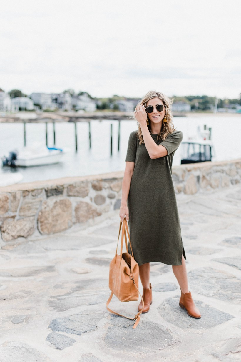 Connecticut life and style blogger Lauren McBride shares How to Style a Sweater Dress for Fall multiple ways to show the versatility of this one wardrobe addition.