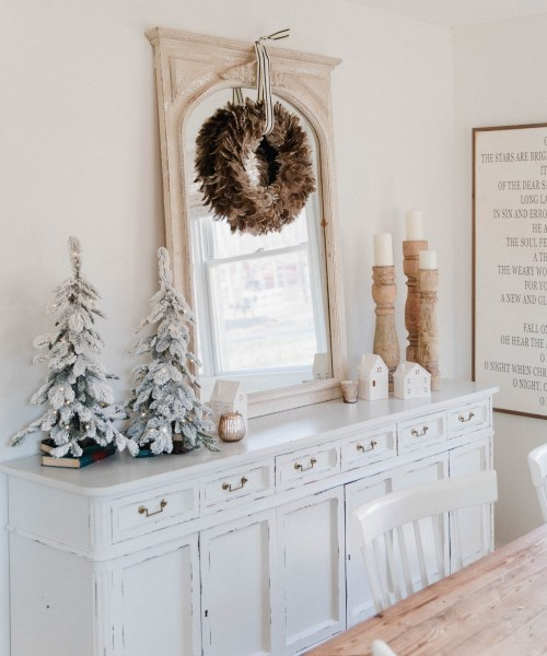 Holiday Sideboard Decor