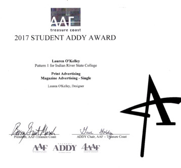 2017 AAF Addy Awards