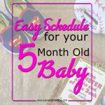 Scheduling for your little ones: 5 months old