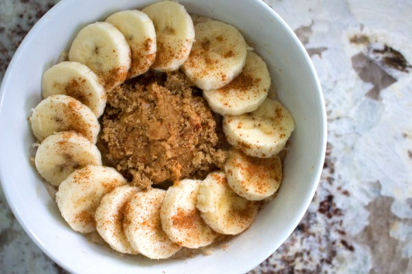low fodmap banana peanut butter oatmeal