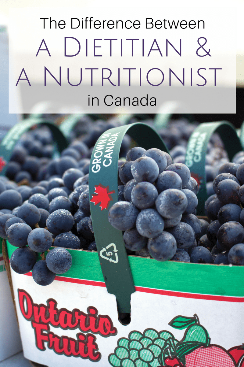 difference between a dietitian and a nutritionist in canada