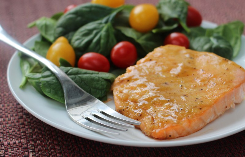 low fodmap maple mustard baked salmon