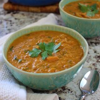 low fodmap lentil squash sweet potato stew