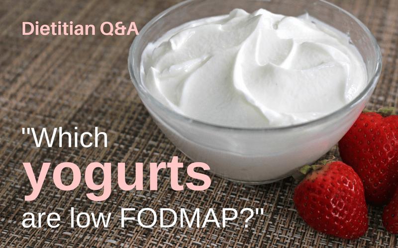 is yogurt allowed on low fodmap diet