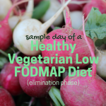 Sample Day of a Healthy Vegetarian Low FODMAP Diet (Elimination Phase)