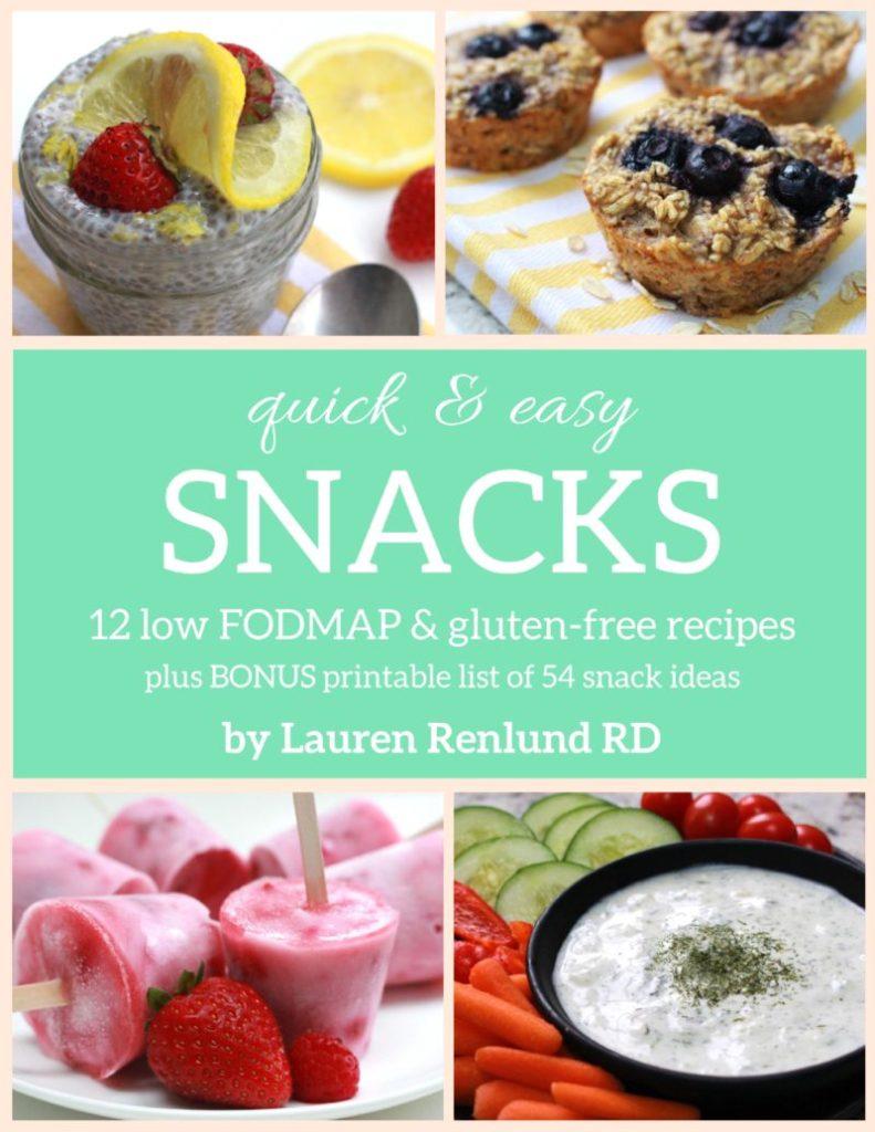 low fodmap snacks e-book