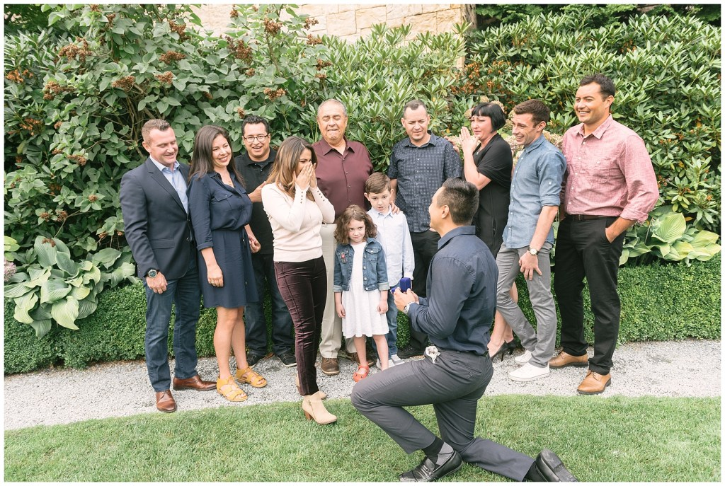 Surprise Family Proposal  |  The Golf Club at Newcastle