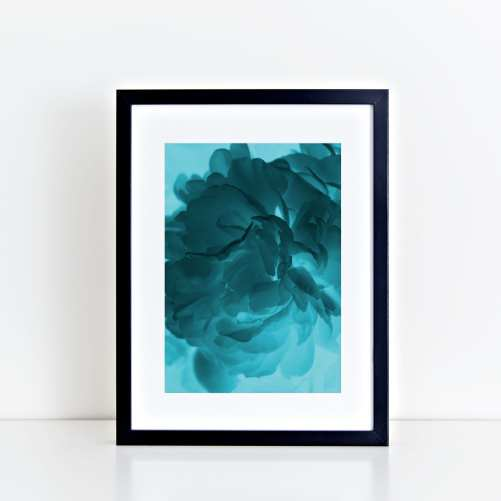 Blue Ghost Peony Art Print - Lauren Skye Studio