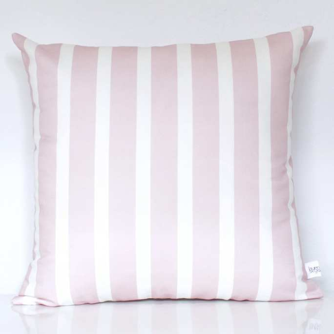 Blush Stripe Cushion Cover - Lauren Skye Studio