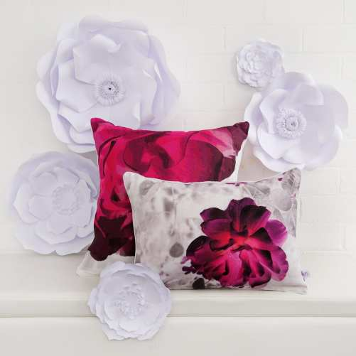 Macro Rose and Shimmer Rose Linen Cushions