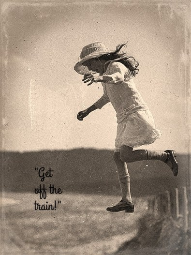 unidentified-small-girl-leaping-onto-the-beach-c-1930s