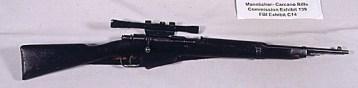 Mit diesem Gewehr, Modell Mannlicher-Carcano, soll Oswald Kennedy aus dem 5. Stock eines Schulbuchlagerhauses erschossen haben.