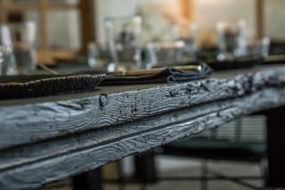 Détail table chêne