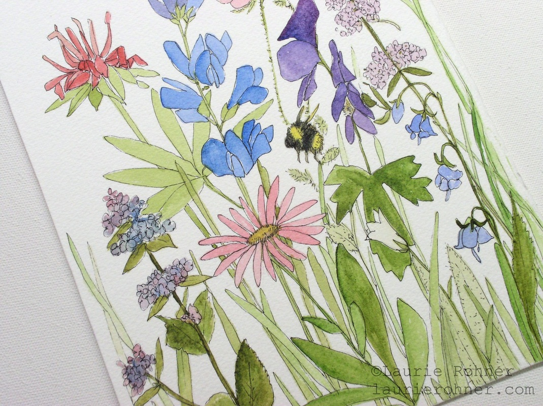Buy art, original watercolor nature art, inspired by botanical gardens and nature